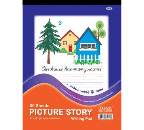 """Bazic 30 Ct. 9"""" X 12"""" Picture Story Pad (Case of 48)"""