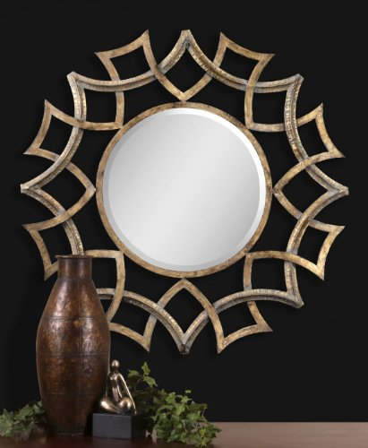 Contemporary geometric wall mirror - geometric wall mirrors