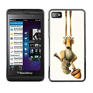 EJOY---Cubierta de la caja de protección la piel dura para el / Blackberry Z10 / --ICE DIVERTIDO DE LA HISTORIETA ARDILLA