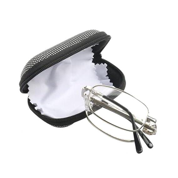 4e0d866d6d Deylaying Gafas de lectura Doblez Metal Marco Para Hombre Anti-vertigo  Lentes para leer Retro Con caja de vidrios Graduación +1.0 +1.5 +2.0 +2.5  +3.0 +3.5 ...