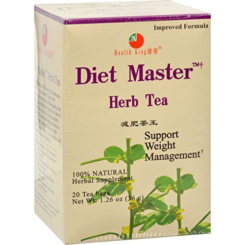Diet Master Tea Herb (Health King Diet Master Herb Tea - Support Weight Management - Natural - Herbal - 20 Tea Bags (Pack of 2))