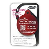 Platinum Pets Lost and Found Small Scannable Pet I.D. Recovery Tag in Candy Apple Red, My Pet Supplies