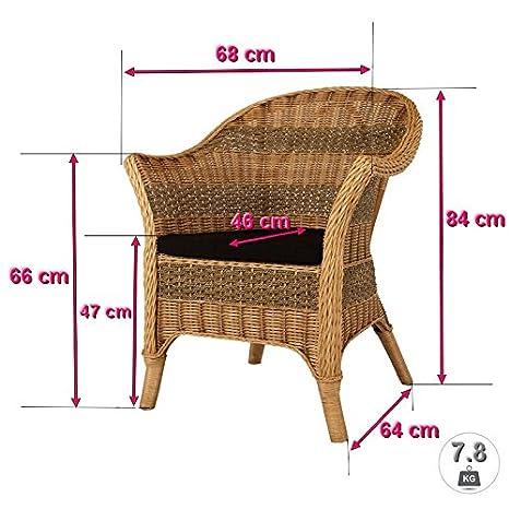 Rotin Design REBAJAS : -21% Sillon de ratan de comedor o de ...