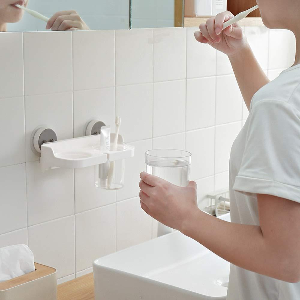 Amazon.com: DaFei Estante de ducha, de plástico blanco, para ...