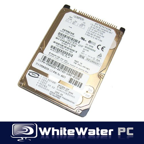 20 Gb Ide Hard Drive (Hitachi Hard Drive 20GB Laptop IDE 2.5 HDD DK23DA-20F)