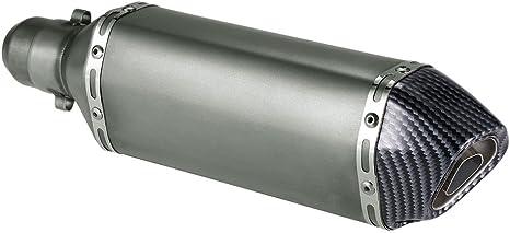 Imagen deKKmoon Silenciador de Tubo de Escape 38-51mm Small Hexagon Cola Oblicua Style para Moto ATV Universal