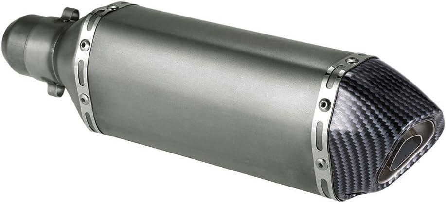 qiuxiaoaa 51Mm a 38Mm Di/ámetro Adaptador de Soldadura Silenciador de Escape de la Motocicleta Conexi/ón de Soldadura Moto Tubo de Escape Tubo de conexi/ón Tubo de Escape Plata
