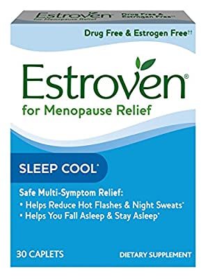 Estroven Sleep Cool, One Per Day, Multi-Symptom Menopause Relief: Black Cohosh, Soy Isoflavones, Melatonin, 30 Count by Amerifit Nutrition