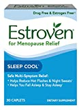 Estroven SLEEP COOLTM + CALM | Menopause Relief Dietary Supplement | Estrogen Free** | Helps Reduce Hot Flashes & Night Sweats* | | 30 Caplets For Sale