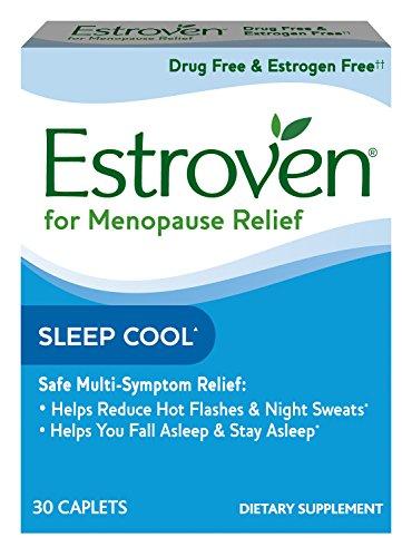 Estroven SLEEP COOLTM + CALM | Menopause Relief Dietary Supplement | Estrogen Free** | Helps Reduce Hot Flashes & Night Sweats* | | 30 Caplets - Black Cohosh Sleep