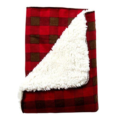 Trend Lab Northwoods Plush Receiving Blanket Blanket Plaid Flannel