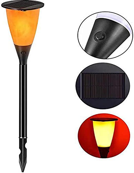 SUNSEATON Luces Solares Tipo Antorcha con llamas Parpadeantes, Antorchas Jardin Impermeabilidad IP65, luces con 102 LED, para Patio, Jardín, Decoración: Amazon.es: Iluminación