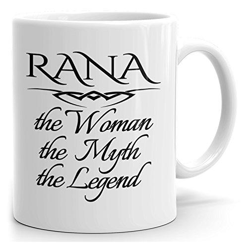 Personal Rana Mug - The Woman The Myth The Legend - for Coffee, Tea & Chocolate - 15oz White Mug