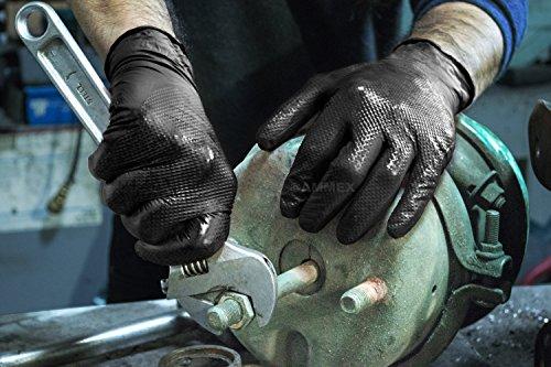 AMMEX - GWBN48100-BX - Nitrile Gloves - Gloveworks - HD, Disposable, Powder Free, Latex Rubber Free, 6 mil, XLarge, Black (Box of 100) by Ammex (Image #3)