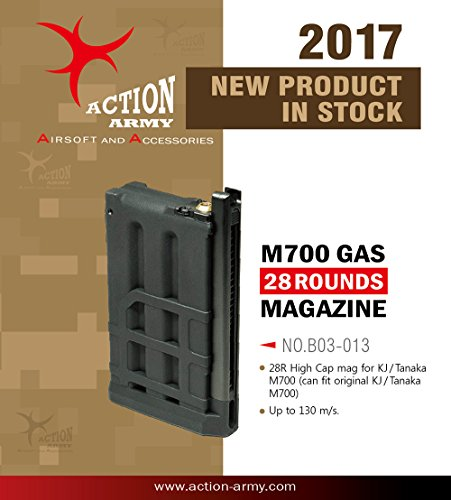 S Magazine 28 rounds for M700 Gas Airsoft Gun Made in Taiwan (M700 Sniper Rifle)