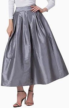 Vestido largo de sección/forma alta/liso/grande péndulo/bash falda ...