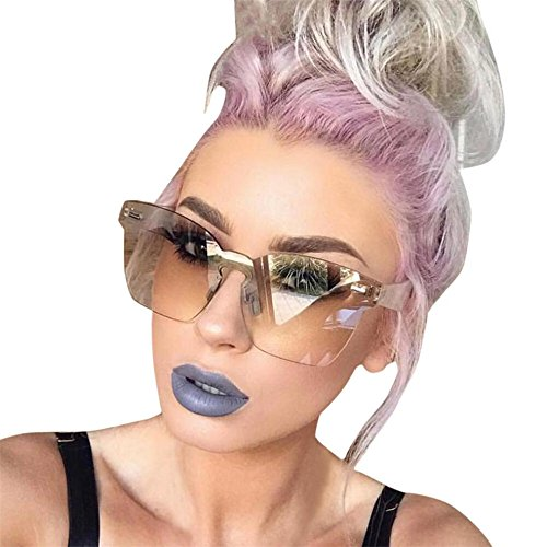 Simayixx Designer Women Unisex Fashion Chic Shades Acetate Frame UV Glasses Sunglasses (Coffee)