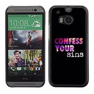 YOYO Slim PC / Aluminium Case Cover Armor Shell Portection //CONFESS YOUR SINS //HTC One M8