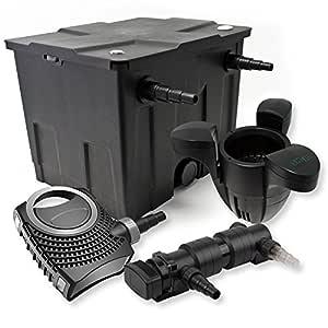 SunSun Kit Filtro de Estanque 12000L 18W UVC 6. Clarificador ...