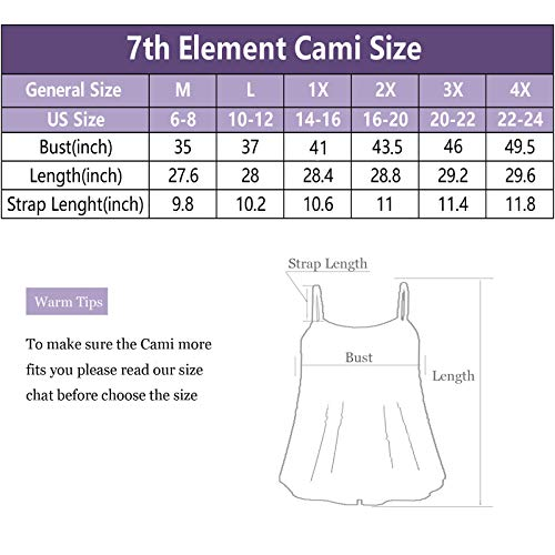 7th Element Plus Size Cami Basic Camisole Tank Top Womens T-Shirt