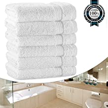 """White Wash Cloths for Bathroom, Luxury 700GSM Washcloths Set, 13""""x13"""" Extra Thick, Soft Cotton Towels for Bathroom Spa Facial Kitchen Home, Hotel, Highly Absorbent (6 Set Bulk)"""