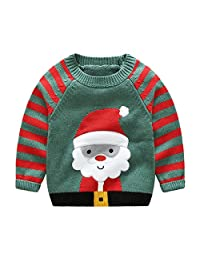 SKY-ST Baby Boy Christmas Sweater Cute Cotton Pullover Sweatshirt Outwear
