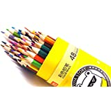 Cenitouch® 48 Piece Mr CUVA Superior Quality Art multicolor Lead Pencils with Rich Pigmentation Non Toxic Wood and Assorted Colors - Soft Core Pencils with vibrant Natural Colors great for Art work for Kids, Adult Coloring Books & Gift. Pre sharpened and comes in for easy storage and use in a Cylindrical box