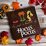 Cheap Hocus Pocus Sign | It's Just a Bunch of Hocus Pocus Sign | Hocus Pocus Halloween Sign | Fall Rustic Sign | Farmhouse Fall Decor | Farmhouse Style Sign | Country Fall Decor | Vintage Fall Sign