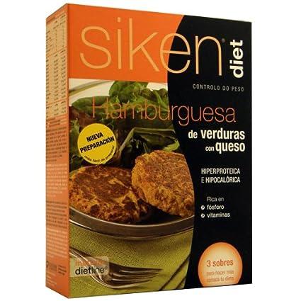 SIKEN DIET HAMBURGUESA DE VERDURAS CON QUESO 26 G 3 SOBRES