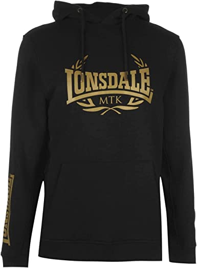 Lonsdale MTK OTH - Sudadera con Capucha para Hombre Black/Gold XXL ...