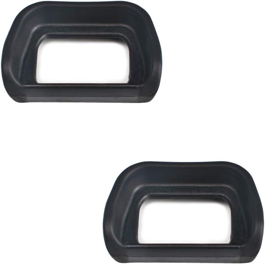 VKO Eyepiece/Eyecup/Eye Cup Viewfinder Replacement for Sony Alpha A6100/A6300/A6000/NEX-6/NEX-7 Cameras FDA-EV2S Electronic viewfinder,Replaces FDA-EP10 Eyepiece(New Version)(2-Pack)