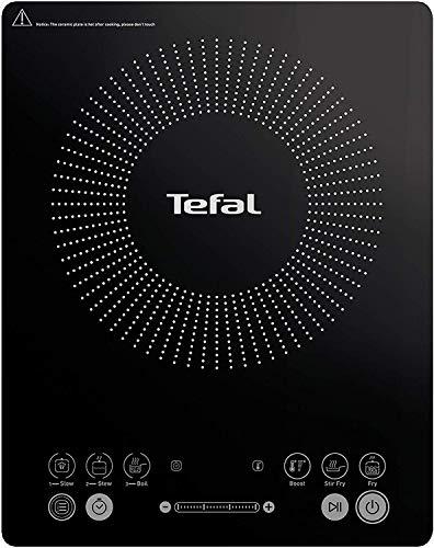 Tefal Everyday Slim – Placa de inducción portatil, 6 modos automáticos, 1 control manual, 240 C, hasta 2100 W, color negro