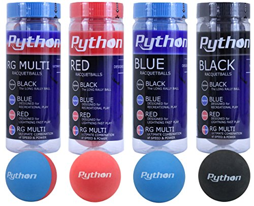 Python 4 Can Variety Pack (1 Blue, Black, Red & RG Multi Can)