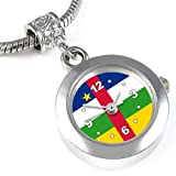 Central Africa Country Flag Bead Watch for Necklace or Bracelet