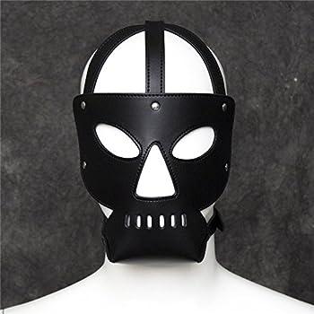 GEBDSM Sex Toy Unisex Erotic Black Leather Fetish Blindfold Mask Buckle Belt SM Bondage Restraints For Adult Couples Club Role Play Flirt Lingerie BDSM Kit