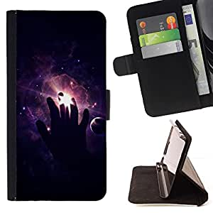 DEVIL CASE - FOR Apple Iphone 4 / 4S - Space Hand - Style PU Leather Case Wallet Flip Stand Flap Closure Cover