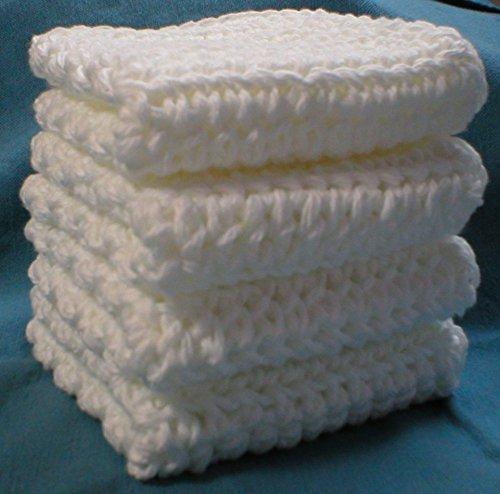 handmade-crochet-cotton-washcloths-dishcloths-set-of-4-white