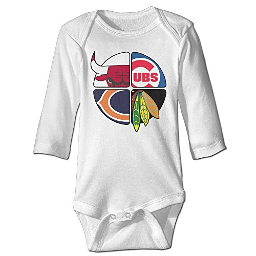 Missone Newborn Chicago Baseball Team Long Sleeve Baby Climbing Clothes