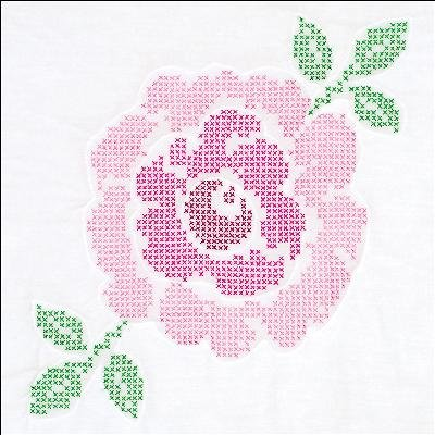 - Jack Dempsey Needle Art 732763 Cross Stitch Rose Quilt Blocks, White