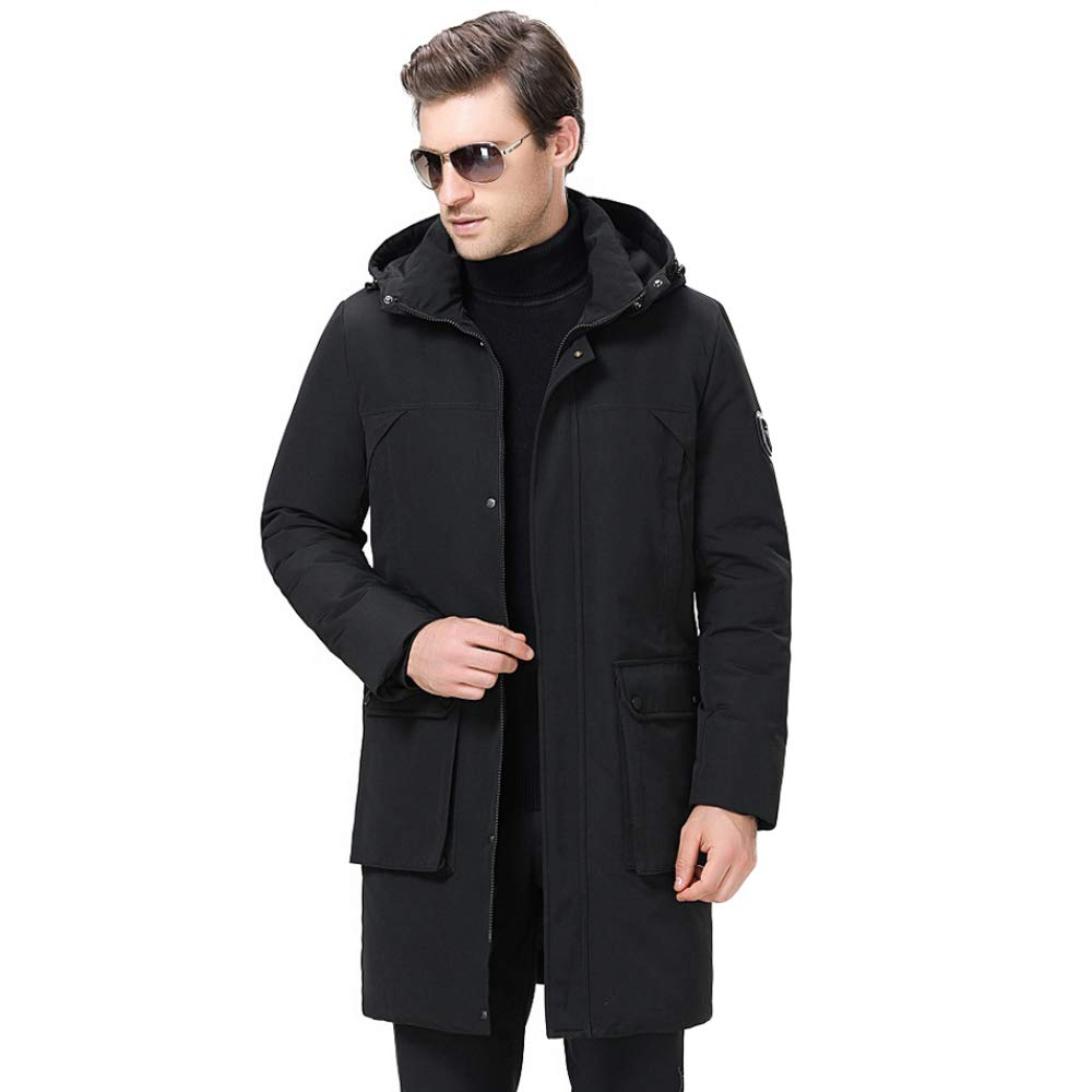 ZPFME Men/'s Winter Thick Jacket Parka Soft Lining Outdoors Coats