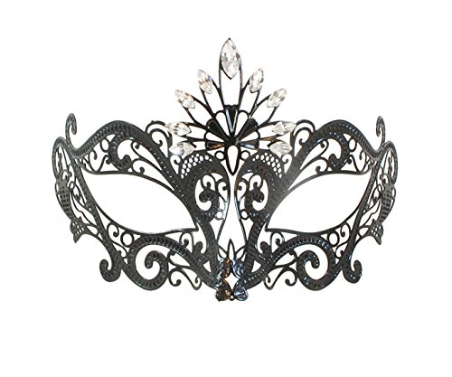 La Fucina dei Miracoli, Metal Filigree Mask With Original Swarovski® Rhinestones,