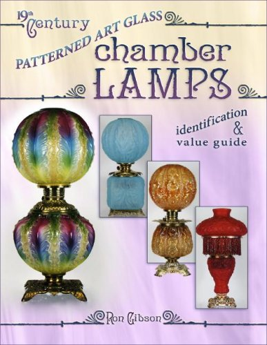 19th Century Patterned Art Glass Chamber Lamps Identification & Value Guide