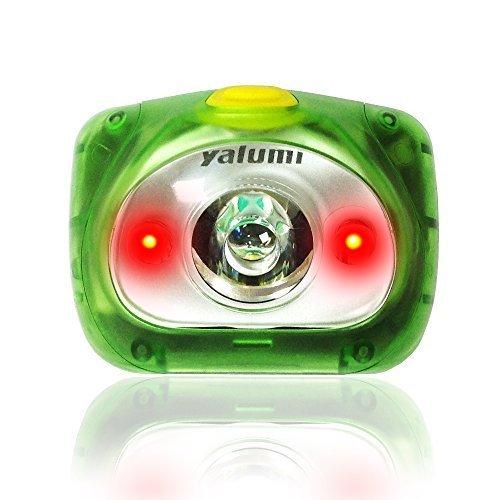 Yalumi Headlamp, Spark Dual 105-Lumen 90-Meter Spotlight White/Red Night Vision LED, Elegant Design, 1.5X Brightness, Longer Battery Life, Less Than 2.7 oz, LightGreen/GrayGreen S