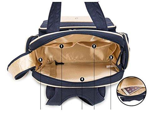 HJXJXJX Bolsa de pañales para bebés de alta calidad multi-funcional impermeable de gran capacidad de material de hombros Messenger fuera de la madre y el niño mochila , green blue