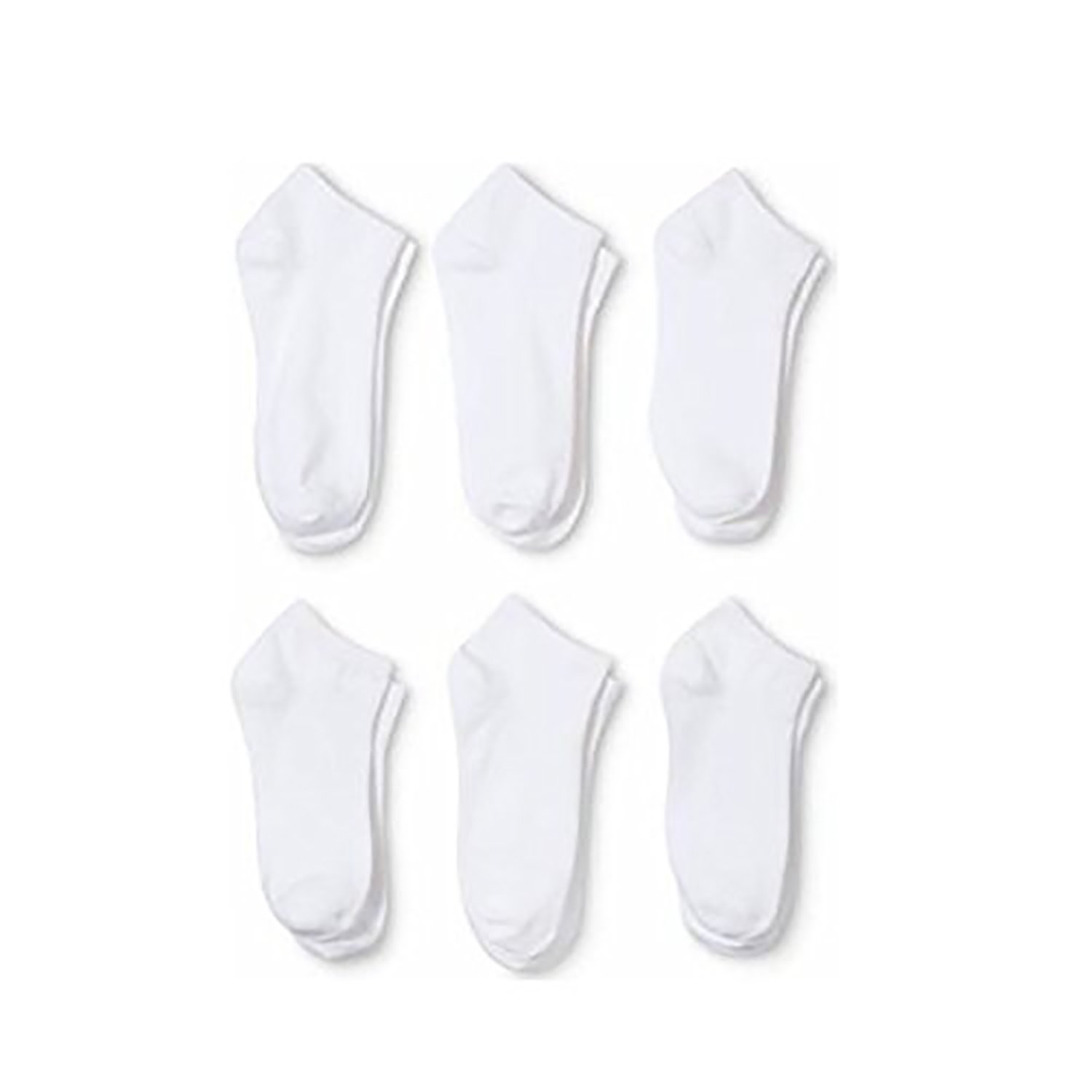 144 Pairs Qraftsy Men's or Women's Classic Low Cut Polyester Socks - Wholesale Lot (10-13, White) by Qraftsy