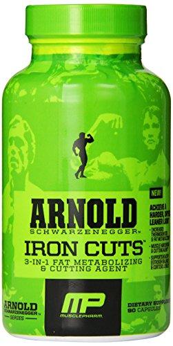 Muscle Pharm Arnold Schwarzenegger Série Iron Cuts Le métabolisme Fat & Agent de coupe - 90 Capsules