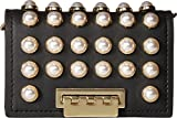 ZAC Zac Posen Women's Pearl Lady Earthette Card Case with Chain, Black, One Size