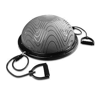 TESITE Balance Trainer Yoga Ball Fitness Ball Weight Loss Riabilitazione Massaggio Emisfero (Grigio)