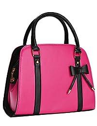 Leather Handbags,Coofit Ladies Handbags Tote Bag Bow Purses and Handbags for Women