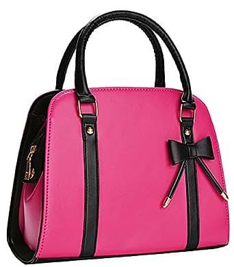 Coofit Lady Handbag Little Bow Leisure Top-Handle Bags Shoulder Bag Purse (Rose)